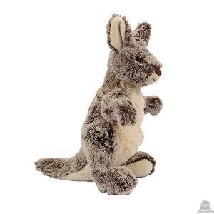 Staande pluche kangoeroe beide van 31 CM.