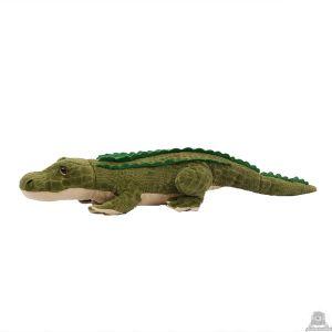 Liggende pluche krokodil beide van 56 CM.