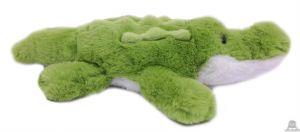 Liggende pluche Krokodil groen 30 cm