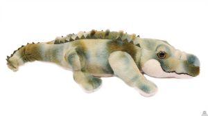 Liggende pluche Krokodil groen 50 cm