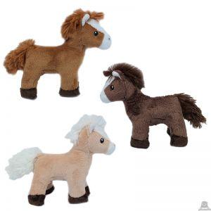 Staande pluche Paard 3 kleuren 13 cm