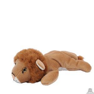 Liggende pluche leeuw beide van 19 CM.