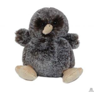 Zittende pluche kiwi vogel 11 cm