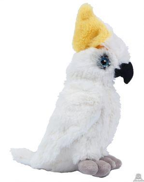 Zittende Kaketoe Wit 22 cm.