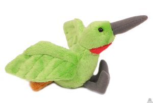 Pluche Kolibrie groen 10 cm