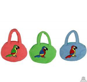 Hangende pluche papegaai beide van 25 CM.
