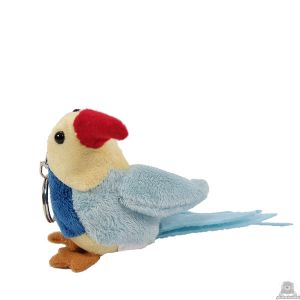 Hangende soft-pluche vogel beide van 11 CM.