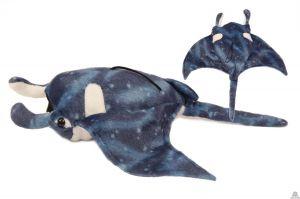 Pluche Rog Manta blauw 43 cm