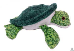 Liggende pluche Zeeschildpad van 22 cm