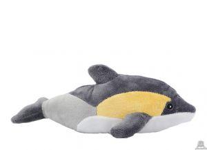 Liggende pluche dolfijn beide van 25 CM.