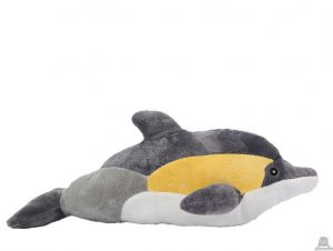 Liggende pluche dolfijn beide van 35 CM.