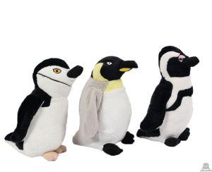 Staande pluche pinguin beide van 22 CM.