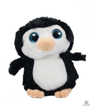 Staande pluche pinguin beide van 16 CM.