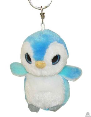 Hangende pluche pinguin beide van 9 CM.