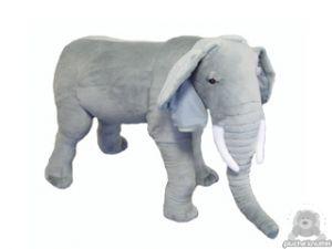 Staande pluche olifant beide van 150 CM.