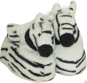Liggende pluche zebra beide van 12 CM.