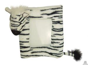Staande babypluche zebra beide van 14 CM.