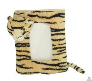 Staande babypluche tijger beide van 14 CM.