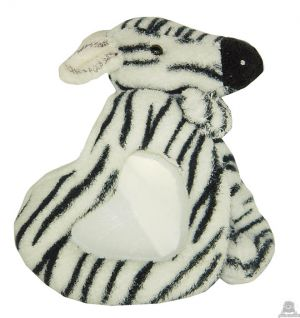 Staande babypluche zebra beide van 16 CM.