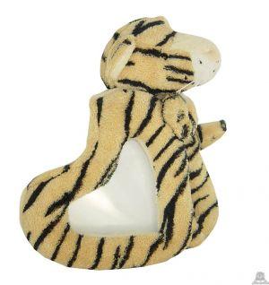 Staande babypluche tijger beide van 16 CM.