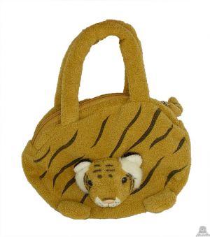 Hangende pluche tijger beide van 22 CM.