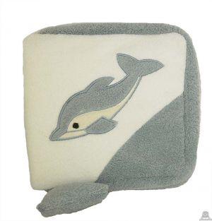 Liggende pluche dolfijn beide van 17 CM.