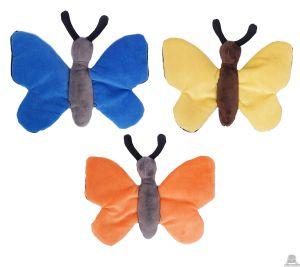 Pluche vlinder 3 kleuren van 33 cm