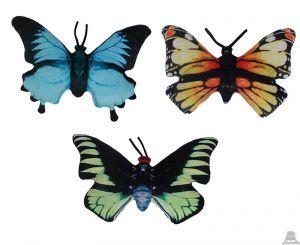 Pluche vlinder 3 kleuren van 48 cm.