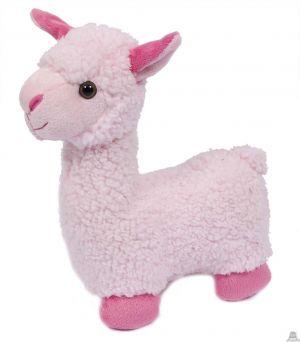 Staande Alpaca roze 29 cm.