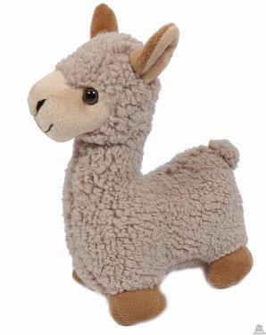 Staande Alpaca wollig beige 29 cm.