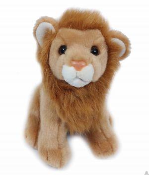 Zittende pluche leeuw 20 cm.