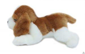 Liggende pluche Hond basset hound 20 cm