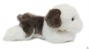Liggende pluche Hond schapendoes 20 cm