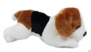 Liggende pluche Hond beagle 20 cm