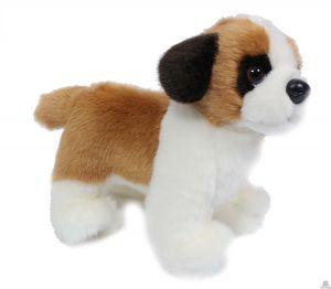 Staande pluche Hond sint-bernard 20 cm