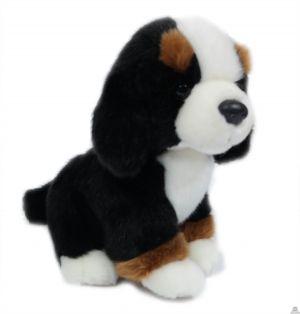 Zittende pluche Hond Berner sennen 20 cm
