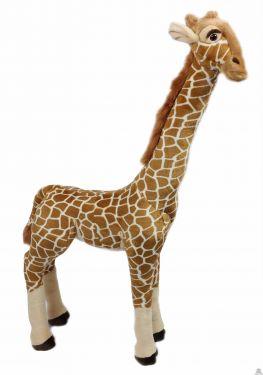 Staande levensechte pluche Giraffe 122 cm