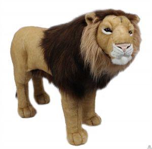 Staande pluche levensechte Leeuw 90 cm