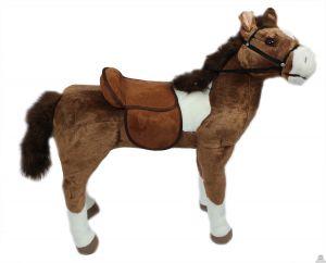 Staande pluche levensechte Paard 69 cm