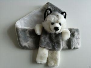 Stoere pluche shawl hond husky 75 cm