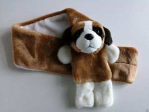 Stoere pluche shawl hond Sint-Bernard 75 cm