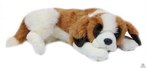 Liggende pluche Hond sint-bernard 60 cm