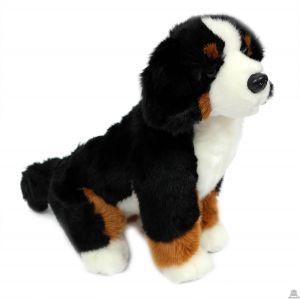 Zittende pluche Hond Berner sennen 28 cm