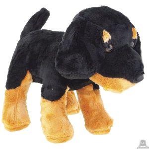Staande pluche Hond rottweiler 23 cm