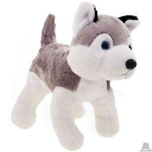 Staande pluche Hond husky 23 cm