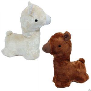 Pluche staande Lama in 2 kleuren 32 cm
