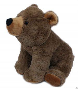 Zittende pluche grizzlybeer van 30 cm