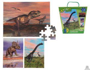3 in 1 puzzel dinosauriërs 3D afbeelding