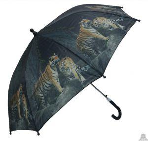 Stoere kinderparaplu tijger 90 cm