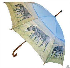 Stoere paraplu met ezel 100 cm